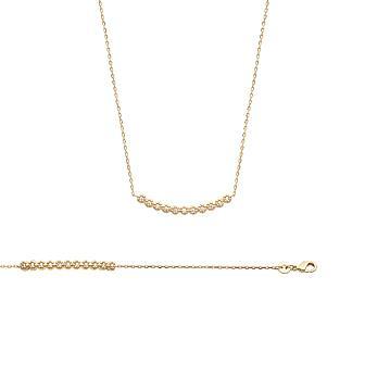 Collar Plaqué Oro 750 milésimas. 3 Micras Circonita Microengaste