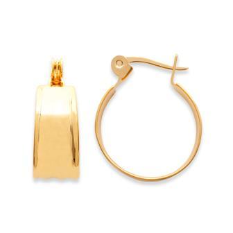 Pendientes de aro (criolla) bañado en oro 750 milésimas 3 micras